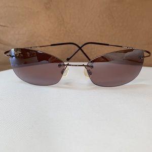 Maui Jim Polarized Titanium Rimless Sunglasses